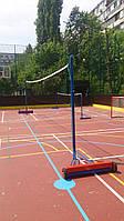 Стойки волейбольные мобильные передвежные с устройством натяжения