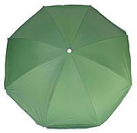 Зонт пляжный однотонный с серебристым напылением 1.8 м с наклоном, фото 1