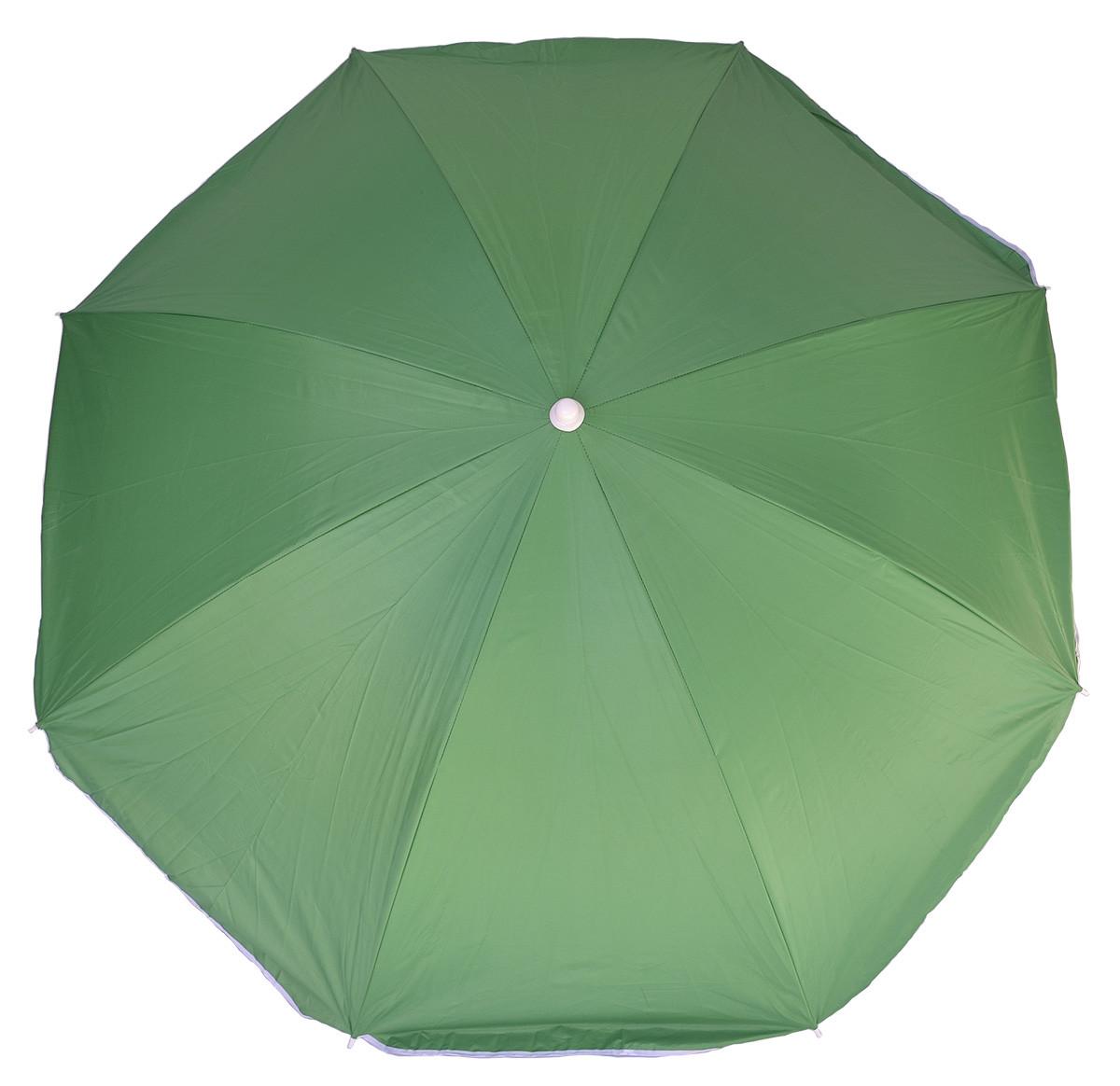 Зонт пляжный торговый однотонный 2.0 м с наклоном