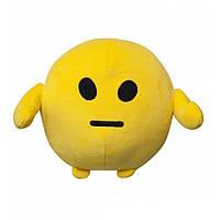 Мягкая игрушка Смайлик Молчун 18 см IMOJI (40015)