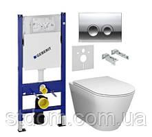 Унитаз Rak Ceramics Resort Rimfree REWC 00002 с сиденьем Soft-close + инстал Geberit DuoFix 458.126.0.1