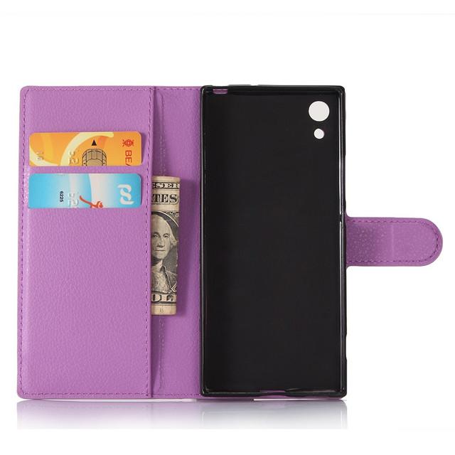 чехол книжка Sony Xperia XA1 фиолетовый