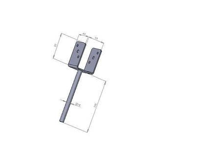 Опора для балки под залив (консоль колонны под заливку) 90х60х97х200х4 мм. ТМ Кольчуга (Kolchuga), фото 2