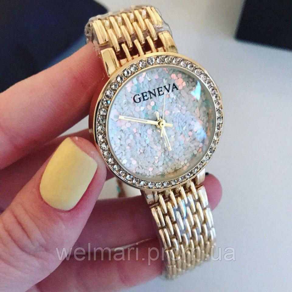 Женские красивые часы в камушках Geneva (разные цвета), фото 1