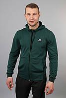Мужской спортивный костюм трикотажный Найк зеленый