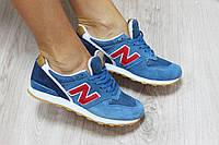 Женские кроссовки New Balance 996 материал: замш, сетка; Вьетнам; р-ры: 36-41; синий