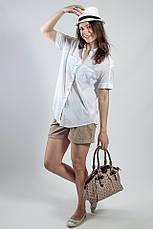 Рубашка женская   белая  короткий рукав Massimo Dutti , фото 2