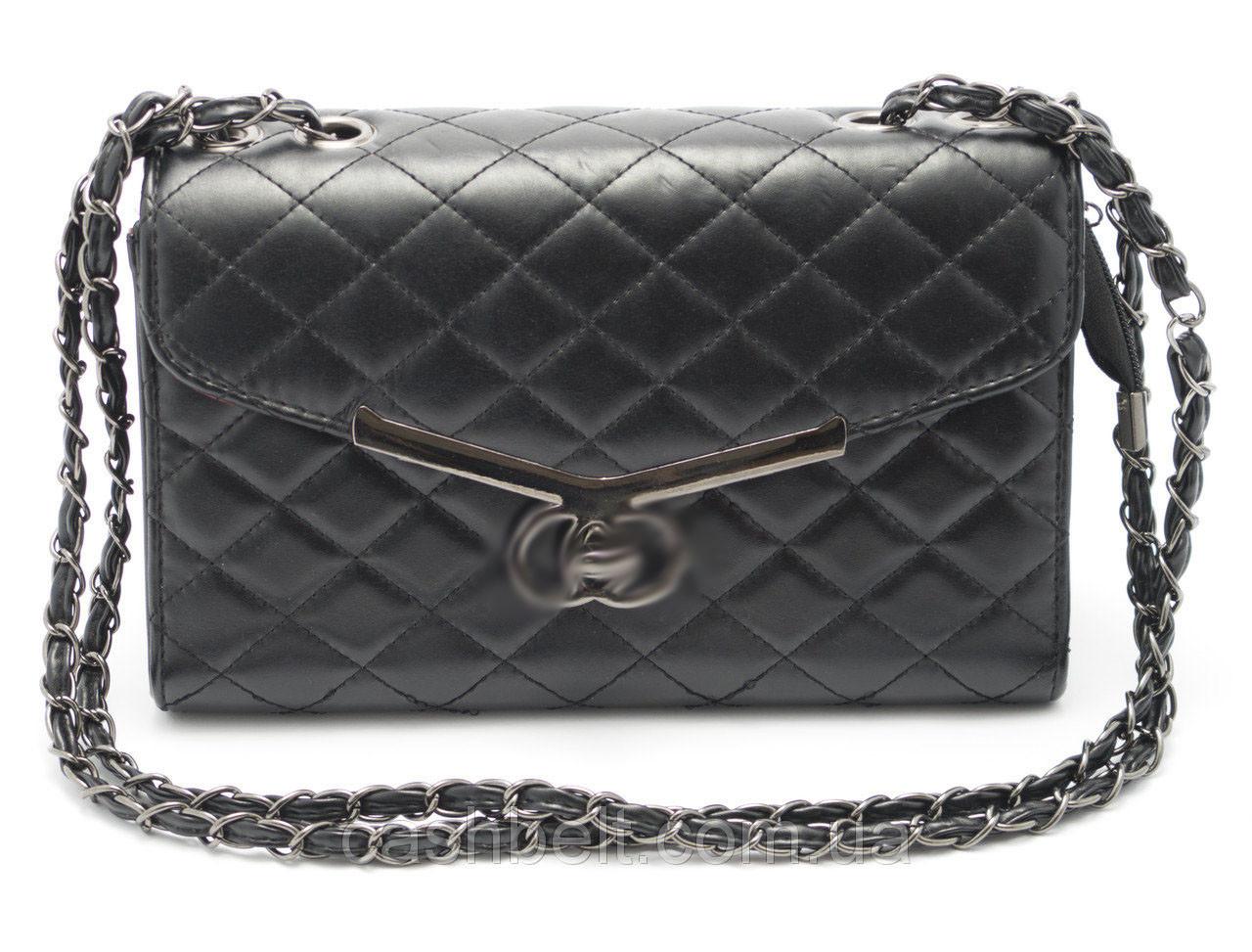 Оригинальный стеганый женский клатч-сумка Б/Н art. 923 черн