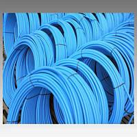 Труба полиэтиленовая, синяя (8 атмосфер) Ø25; толщ.стенки 2 мм (первичное сырье)
