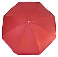 Зонт пляжный однотонный с серебристым напылением 1.8м, фото 1