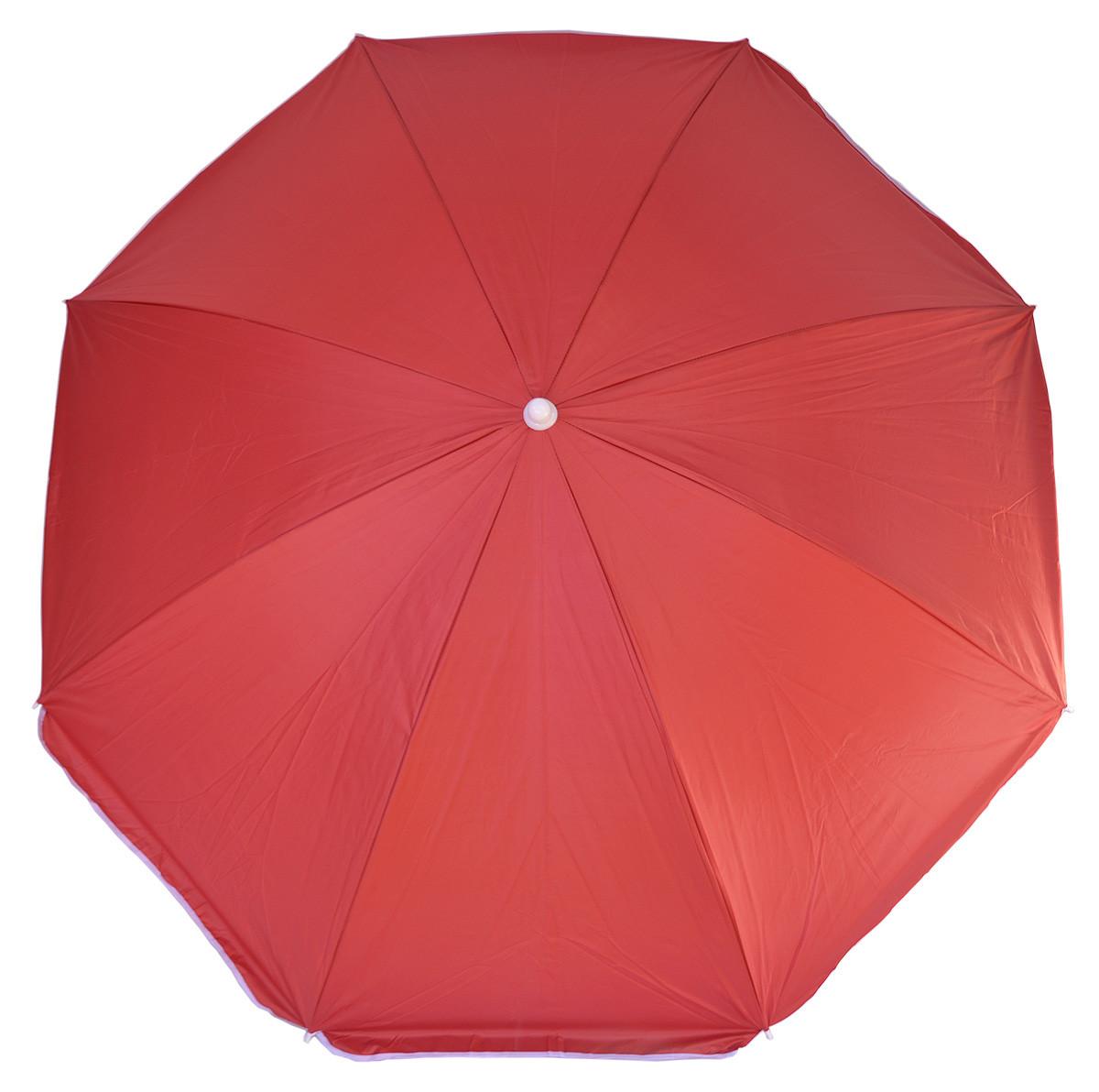 Зонт пляжный однотонный с серебристым напылением 1.8м