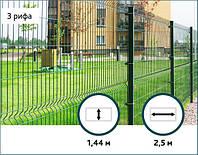 Ограждение Эко Колор (оц+полимер RAL6005 ) 200х50мм 3,0/4,0мм 1,44/2,5м