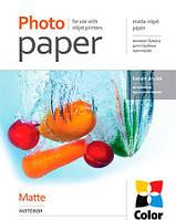 Бумага ColorWay матовая (Формат: A4 (210x297 mm), Плотность: 108 г / м2 Количество в упаковке: 100 листов) (PM