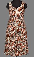 Женский халат больших размеров длинный (100% хлопок) фасон сарафан на молнии Украина 48