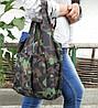 Сумка для покупок трансформер Gidra Wood камуфляжна господарська сумка (Україна), фото 6