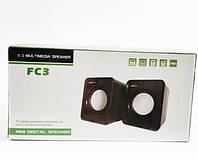 Колонки компьютерные USB 2.0 FC3 2H!Акция