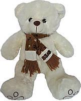 Мягкая игрушка «Плюшевый мишка Гриша молочного цвета 50 см с шарфом»