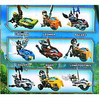 "Конструктор ,игровой набор Chima( аналог LEGO ) ""Набор героев на чимациклах"" 38х36х6 см."