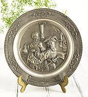 Тарелка  оловянная, олово, Германия, Рембрандт, 26 см