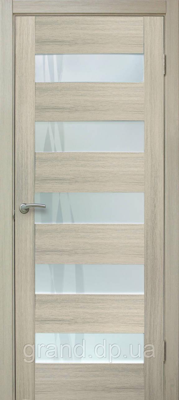 Двери межкомнатные Омис Форте лиана ПО ПВХ, цвет дуб беленый