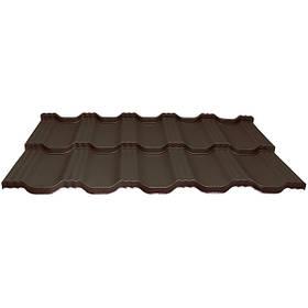 Модульна металлочерепиця Egeria - Poliester Mat (887 крупнозернистий шоколадний)