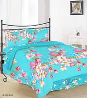 Комплект постельного белья Руно бязь 20-1283 Blue евро