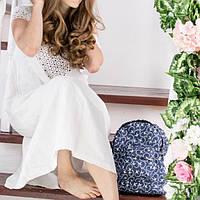Джинсовый рюкзак с ласточками