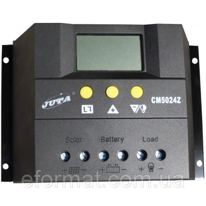 Фотоэлектрический контроллер заряда JUTA CM5024Z, 50А 12/24В, PWM