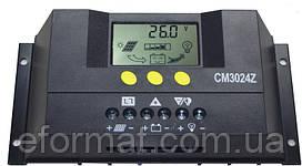 Фотоэлектрический контроллер заряда JUTA CM3024Z, 30А 12/24В, PWM