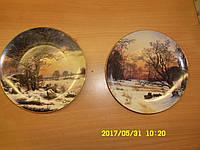 Коллекция настенных фарфоровых тарелок Германия 20 век