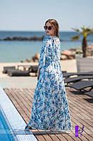 Комплект из 2-х изделий. Летящее платье с глубоким декольте и платье-чехол   голубая орхидея , бабочки