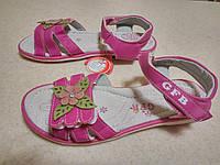 Детские красивые босоножки с кожаной ортопед стелькой девочкам р. 31-36, розовые