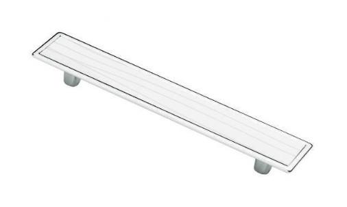 Ручка мебельная Ozkardesler 5420-013/075 128 мм SIRA Белая-Белая с полосами
