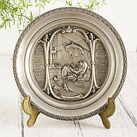 Тарелка  оловянная, олово, Германия, Карл Шпицвег, 21 см