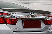 Спойлер на крышку багажника из ABS пластика на Toyota Camry XV50 2011-2014