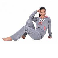 Пижама Женская с капюшоном Arya L серая