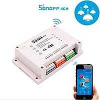 Sonoff 4CH  10А 2200W 4-Канальный WiFi выключатель , фото 1