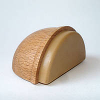 Дверной ограничитель (стопор, стоппер), деревянный (светлый бук) самоклеющийся