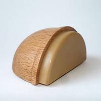 Самоклеящиеся дверные ограничители стопперы для дверей деревянный (светлый бук)