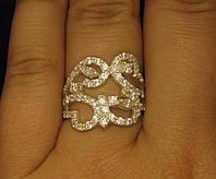 Кольцо серебро 925 проба 17.5 размер №1180