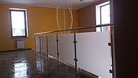 Нержавеющие перила со стеклом