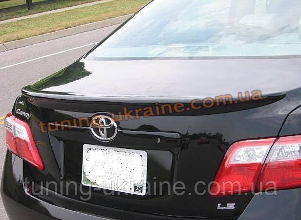 Спойлер на крышку багажника из ABS пластика на Toyota Camry XV40 2006-2011 - ООО Tuning Avto в Харькове