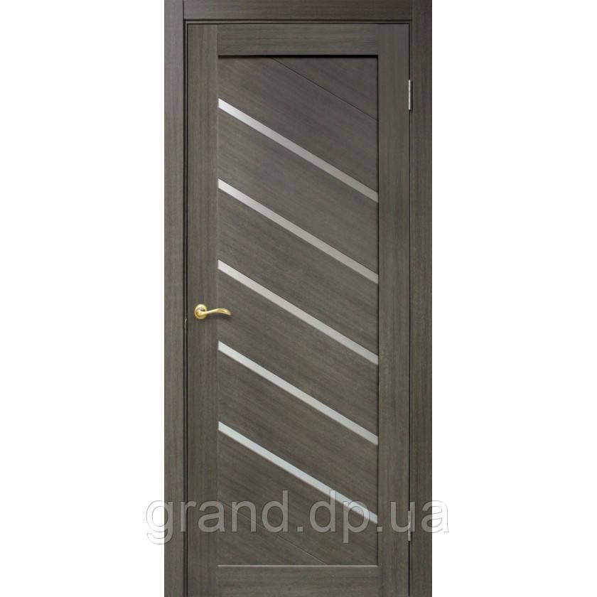 """Дверь межкомнатная """"Диана ПО ПВХ"""" с матовым стеклом, цвет мокко"""