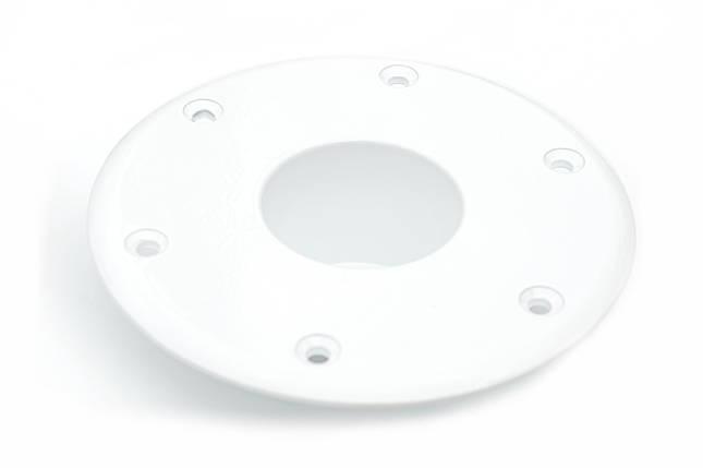 Основание для стойки стола в лодку белое, фото 2