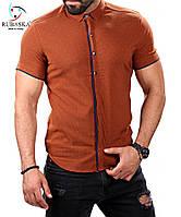 Рубашка красивого кирпичного цвета, фото 1