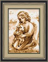 """Набор для рисования камнями (холст) """"Ангел с козленочком"""" LasKo TL021"""