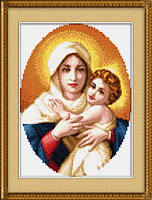 "Набор для рисования камнями (холст) ""Мадонна с младенцем"" LasKo TL023"