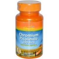 Купить витамины и минералы Thompson Chromium Picolinate, 200 mcg, 60 tabl