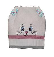 Детская демисезонная шапочка с ушками.