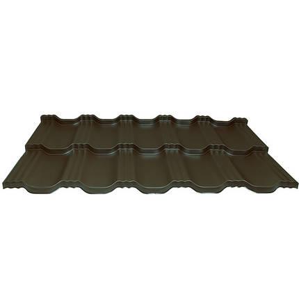 Модульна металлочерепиця Egeria - Purex (887 шоколадний), фото 2